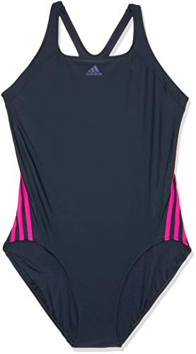 adidas Damen Badeanzug Infinitex Essence Core 3 Stripes 1 Piece, Legend Ink/Real Magenta, 38, DH2418