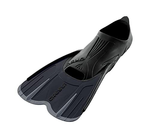 Cressi Agua Short Fins, Pinne Corte Leggere e Reattive per Nuoto/Snorkeling Unisex, Nero/Argento, 43/44