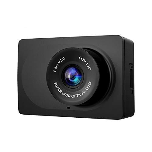 Contactsly Video Recording Mini-Kamera Kompaktkamera-Auto-Recorder 1080p Full-HD-Cam Armaturenbrett mit 2.7 Zoll LCD-Schirm 130 WDR Objektiv Nachtsicht (Farbe : Schwarz, Größe : Einheitsgröße)