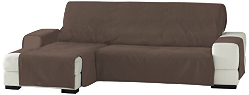 Eysa Zoco - Funda para chaise longue, izquierda, vista frontal, 240 cm, Marrón