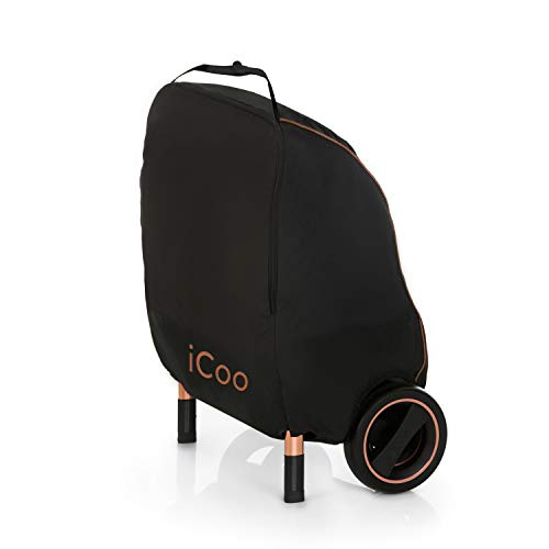 iCOO hochwertige Transporttasche für den Acrobat Kinderwagen, Wasserdicht, Reißfest, Strapazierfähig – Schwarz