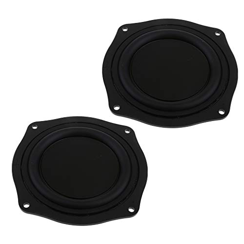 Prettyia 2Packs 4 Inch DIY Bass Speaker Loudspeaker Vibrating Membrane Passive Bass Woofer Diaphragm Plate,Speaker Passive Radiator Replacement Kit