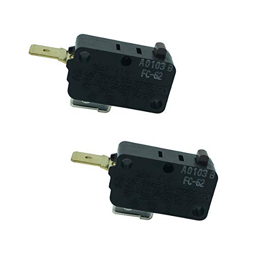 LONYE SZM-V16-FC-62 W10269458 Microwave Door Switch Replacement for Whirlpool Microwave AP4429884 PS2361111(Normally Close)(Pack of 2)