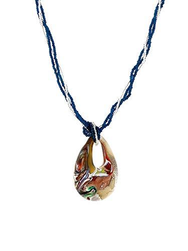 Venetiaurum - Collar en cristal de Murano y plata 925 - Joya Made in Italy certificado