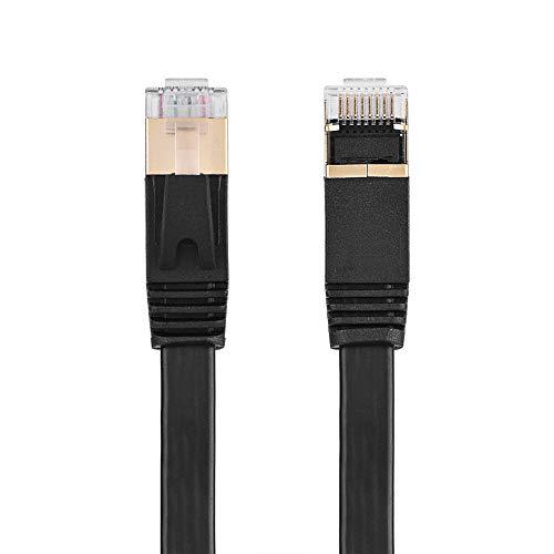 Cuifati Cable LAN RJ45, 4 Pares Trenzados Blindados por Cables de Cobre, Cable de computadora, para computadora portátil, computadora,(3 Meters)