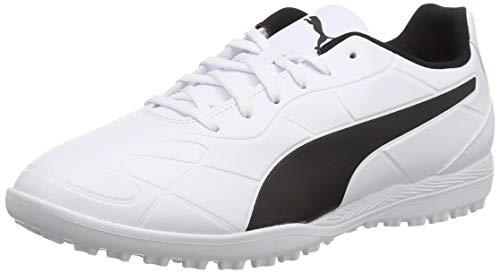 PUMA Herrens Monarch TT Fußballschuh, Weiß (Puma White-Puma Black), 42.5 EU