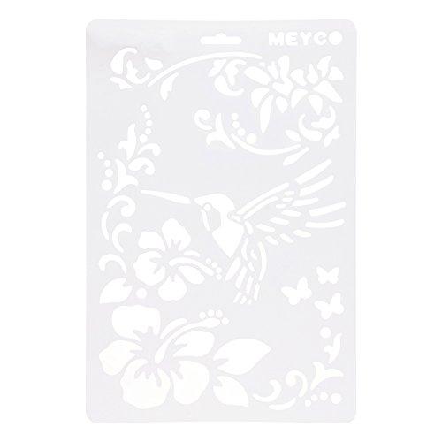 HuntGold ?A4 DIY Handwerk Kolibri Schichtung Schablonen Album Stempeln Vorlage Zeichenwerkzeug