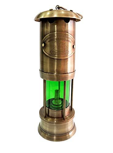 Marine Nautical Store Lanterne verte en laiton de style antique vintage fait à la main