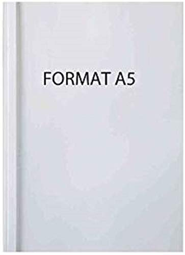 GBC Cubierta de encuadernación térmica estándar A5, color blanco (100 unidades)
