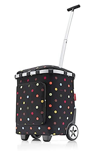 Reisenthel Carrycruiser Plus Einkaufstrolley dots Polyestergewebe, Aluminiumrahmen, wasserabweisend, ausziehbare Teleskopstange, Volumen: 46 l, Maße: 42 x 52,5 x 32 cm, OF7009