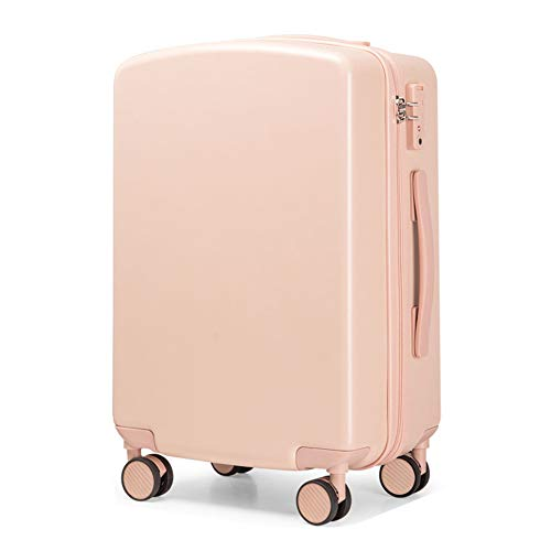 Bewinch Hard Shell Suitcase,Hold Luggage Suitcas,20 Inch, Carry on Hand Cabin Luggage Travel Trolley Lightweight Durable 4 Spinner Wheels,Pink