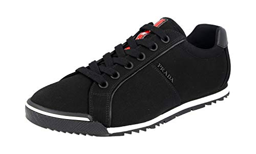 Prada Herren Schwarz Stoff Sneaker 4E2719 42 EU/UK 8