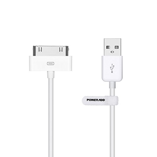 POWERADD Apple MFi Zertifiziert 1,2m USB Kabel mit 30 Pin Anschluss Apple Synchronisieren-und Laden-Kabel Datenkabel für iPhone 4 4S, iPad 1 2 3, iPod Touch, iPod Nano