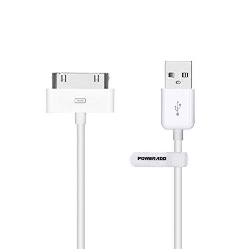 Poweradd [Apple MFi Zertifiziert] Apple Synchronisieren-und Laden-Kabel mit 30 Pin Anschluss für iPhone 4S 4 3GS, iPad 2 3, iPod touch 2 3 4, iPod nano 6