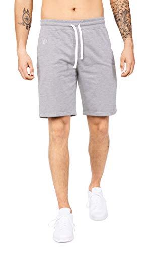 Banqert Herren Shorts Sunny Strokes, Kurze Sweatpants für Männer aus Active-Brushed Cotton, lässige Jogger für Freizeit und Fitness, in Grau-e, S