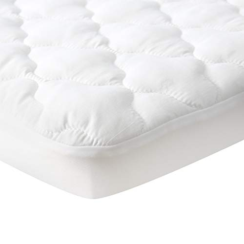 Waterproof Pack N Play Mattress Pad Protector, Comfortable and Durable Cotton Fabric, Fitted Baby Portable Mini Cribs, Graco Play Yards and Foldable Mini Crib Mattress Cover