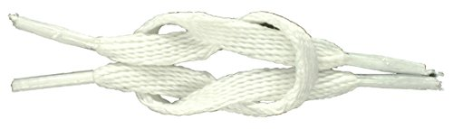 White Shoe Laces / String - Flat Laces for Shoes, Football Trainers, High Tops & Boots 90cm by Concept4u