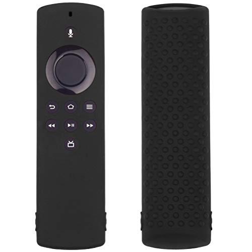 Amiispe Fernbedienung Schutzhülle kompatibel mit Fire TV Stick 4K Alexa Sprachfernbedienung, Stoßfestes Silikon Haut mit Trageschlaufe Staubdicht stoßfest und waschbar