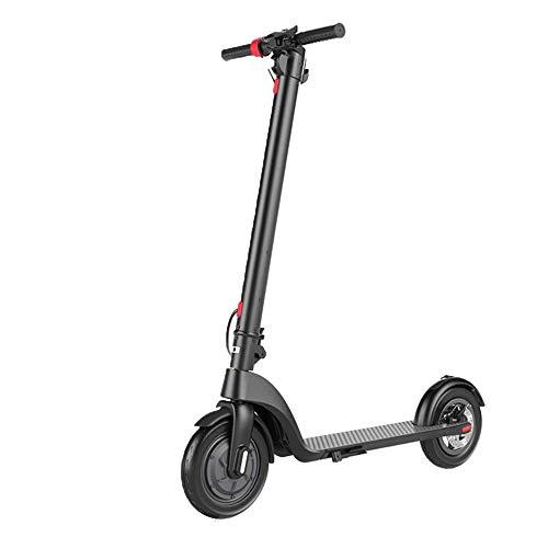 FUJGYLGL Scooter eléctrico, Scooter Plegable de Motor 350W, neumáticos sólidos de 8,5', Pantalla de visualización LCD, 3 Modos de Velocidad E-Scooter, Scooter eléctrico de cercanías for Adultos