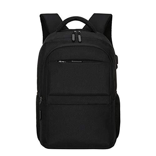 HLONGG Men's Casual Business Computer Backpack, Korean Fashion Trend Student School Bag, Outdoor Travel Backpack,Black
