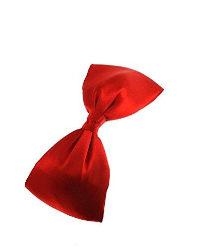 Arco de pelo grande en el clip de pelo liso rojo - Lolita Vintage Alice - Zacs Alter Ego