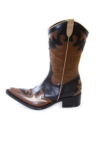 Fornarina Vintage Leather Boots PIFNI3246WC Choco/Brown (36 EU, Choco/Brown)