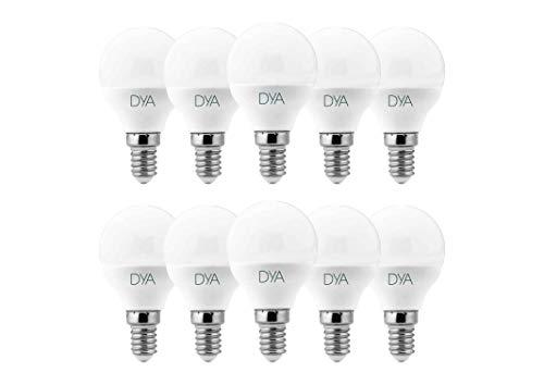 Juego de 10 Bombillas LED Bola G45 LED, 6W 570 lúmenes, casquillo E14, luz natural 4000 K °