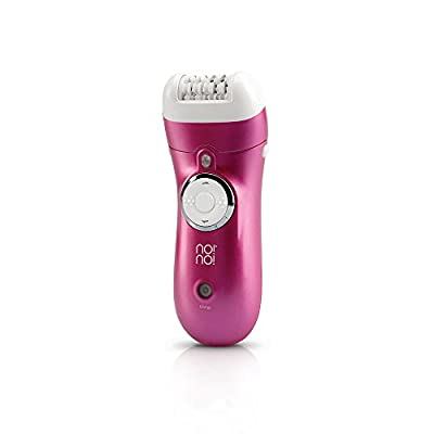 No!no! Epilator - Cordless Hair Removal for Women - Rechargeable & Waterproof Electric Lady Shaver - Lasts 40 Minutes on One Charge - 2 Efficiency Caps - Flawless For Legs, Armpits, Face & Bikini Line