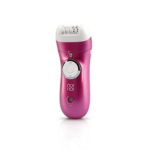 No!no! Epilator - Cordless Hair Removal for Women - Rechargeable & Waterproof Lady Shaver- Lasts 40 Minutes on One Charge - 2 Efficiency Caps - For Legs, Armpits & Bikini Line