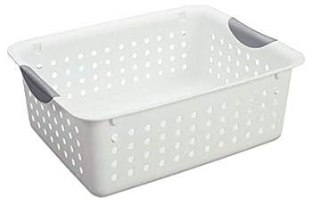 Sterilite Medium Ultra Basket Plastic Storage Bin Organizer - White  Pack of 12