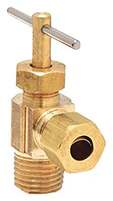Needle Valve, Angled, 3/8 In., Compression by PARKER HANNIFIN