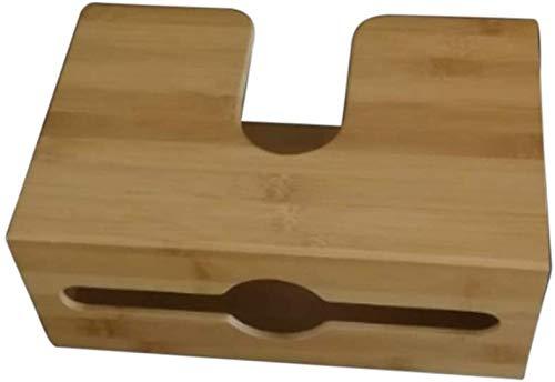 HONGY Bambus Papier Handtuchspender, Wandhalterung Serviettenhalter Gewebe Kiste Hält Mehrfach Gefaltet Papier Handtuch für Küche und Badezimmer Dekor - Wie abgebildet, Free Size