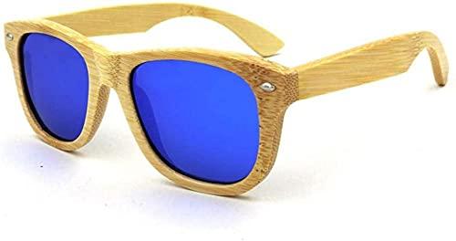 UV400 Gafas de sol polarizadas de moda clásica al aire libre de bambú unisex