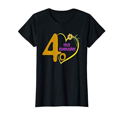 Mujer Feliz Cumpleaños 40 Años, Regalo Dia De Amor Camiseta