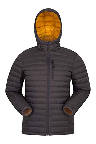 Mountain Warehouse Doudoune Henry II Homme - Manteau résistant à l'eau, Chaud, Confortable, Blouson d'hiver isolé, Bomber - pour Temps Froid, l'extérieur et Les Voyages Gris foncé XS