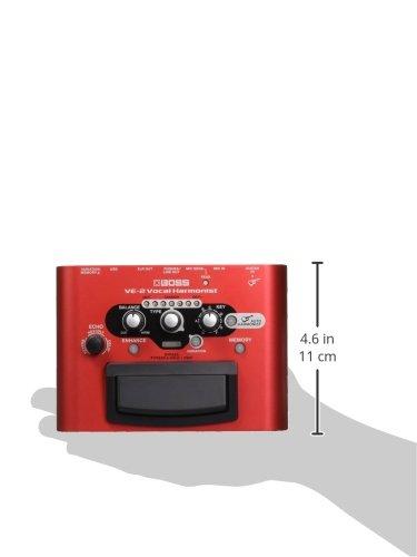 BOSS Vocal Harmonist Effects Processor Stompbox Guitar Pedal, (VE-2) (VE-2)
