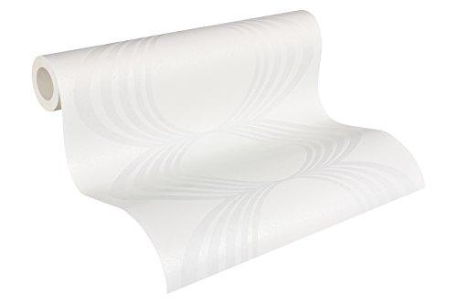 Architects Paper überstreichbare Vliestapete Pigment Classic Tapete 10,05 m x 0,53 m weiß Made in Germany 958914 9589-14