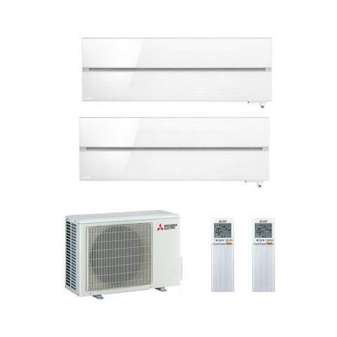 Climatizzatore Dual Split Inverter 9000 + 12000 Btu, Classe A+++/A+, Funzione Deumidificatore, Kirigamine MSZLN-VGB E1
