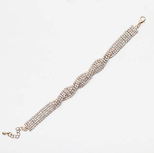 MXH Crystal Jewelry Rhinestone Schmuck Female Armband Diamond Accessoires Zircon Diamond Schmuck,Silver