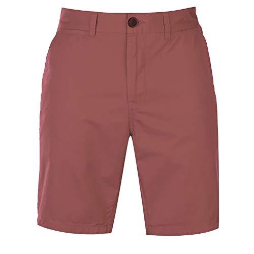 Pierre Cardin Herren Neue Saison 100% Baumwolle Classic Leichter Sommer Chino 5 Taschen Shorts Knopf- und Reißverschlussbefestigung mit Gürtelschlaufen (2XL, Black)