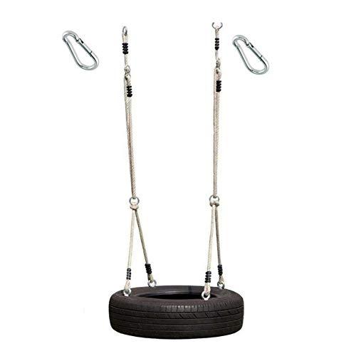h2i Kinder Reifenschaukel Seil-Set horizontal incl. Karabiner zum Einhängen (ohne Reifen)