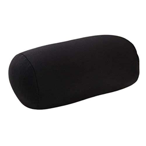 ACEHE Almohada de forma de pilar de moda, almohada de espuma con partículas cilíndricas para la cintura, almohada de aviación portátil