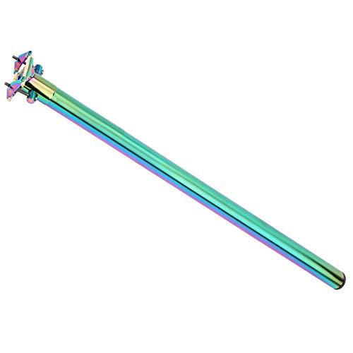 FOLOSAFENAR Poste de Asiento de aleación de Aluminio Tubo de Asiento Plegable Fácil instalación Altura Ajustable, para Bicicletas con orugas, para Bicicletas de montaña(Colorful)
