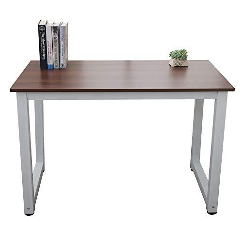 110 cm multifuncional escritorio de computadora marrón madera diario trabajo estudio hermosa práctica simple elegante mesa