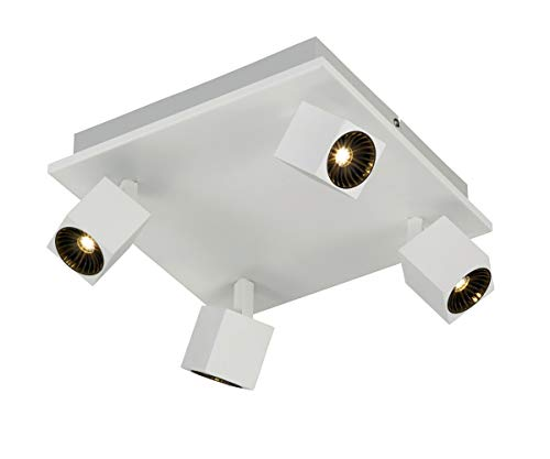 Trio Leuchten LED Strahler Cuba 828530531, Metall Weiß matt, inkl. 2x 4 Watt + 3x 10 Watt LED