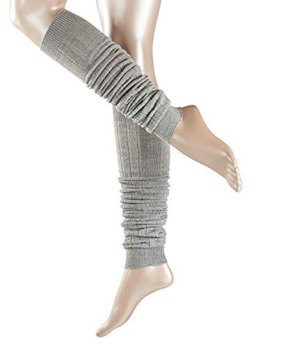 ESPRIT Damen Leg Warmers Rib - Schurwollmischung, 1 Paar, Grau (Light Grey 3400), Größe: ONESIZE