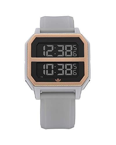 adidas Originals Watches Archive_R2 Silicone Strap w/SS Buckle, 22mm Width (33mm) - Clear Granite/Copper