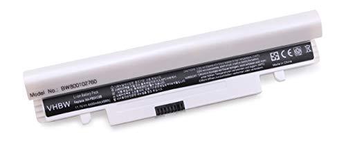 vhbw Batterie Compatible avec Samsung N260-JP02, N260-JP02C, N260P, NP-N143, NP-N143 Plus, NP-N143-DP01CN Laptop (4400mAh, 11.1V, Li-ION, Blanc)