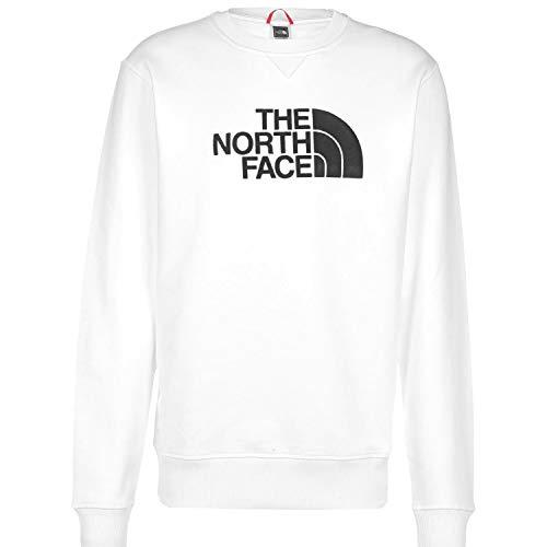 The North Face Felpa da Uomo Girocollo Drew Peak Bianca Taglia XS cod 4SVR-LA9
