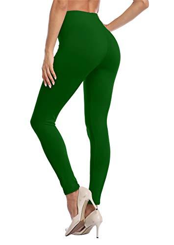 VOGUEMAX Women's Ankle Length Leggings Buttery Soft High Waisted Stretch Basic Solid Full Length Leggings Pants